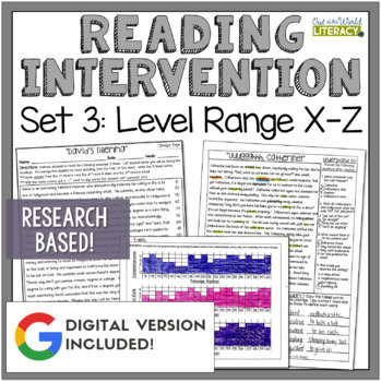 Reading Intervention Program: Set Three Level Range X-Z  R