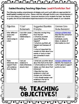Guided Reading Lesson Plans Level H