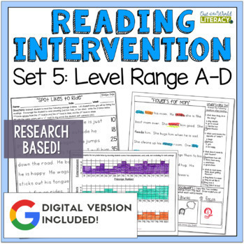 Reading Intervention Program Set 5 Level Range A-D