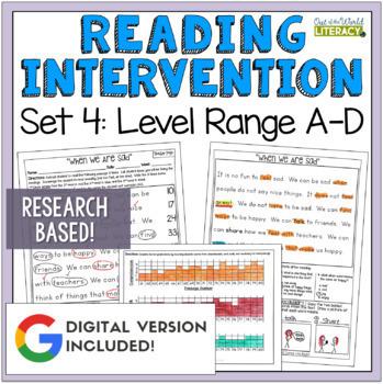 Reading Intervention Program: Set Four Level Range A-D RES