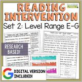 Reading Intervention Program: Set 2-E-G | Distance Learnin