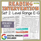 Reading Intervention Program Set 2 Level Range E-G
