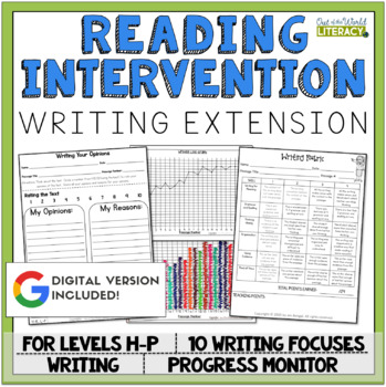 Writing Extension: Levels H-P