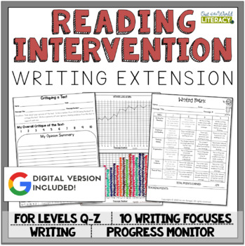 Writing Extension: Levels Q-Z