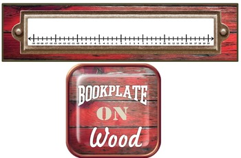 -20 to 20 Number Line for Desk Plates or Interactive Notebook- Bookplate