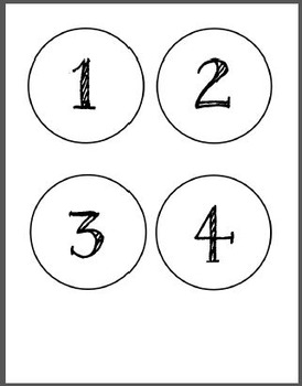 -20 to +20 integers template