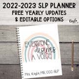{2018-2019} Editable SLP Planner w/ FREE YEARLY UPDATES!