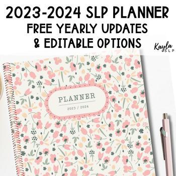 {2016-2017} SLP Planner w/ FREE YEARLY UPDATES!