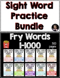 Sight Word Practice Fry Words 1-1000