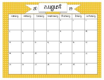 *2018-19 Calendar*