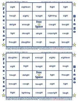 #22 GH Words Bingo Card Game