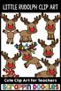 Little Rudolph Clipart {Scrappin Doodles Clipart}