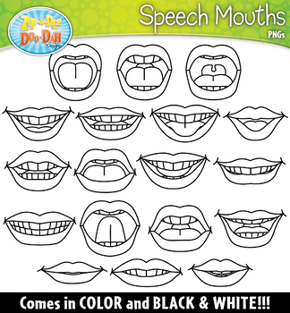 Speech Mouths SLP Clipart {Zip-A-Dee-Doo-Dah Designs}