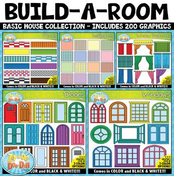 Build-A-Room / Simple House Clipart Mega Bundle