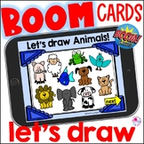 Directed Draw Animals Boom Cards | How to Draw Animals