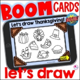 Directed Draw Thanksgiving Boom Cards | How to Draw Thanksgiving