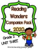 Reading Wonders 2020 Companion Pack Grade 2 UNIT THREE BUNDLE
