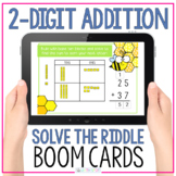 2 Digit Addition With Regrouping Math Riddle Digital Boom Cards