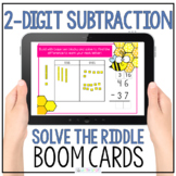 2 Digit Subtraction With Regrouping Riddle Digital Boom Cards