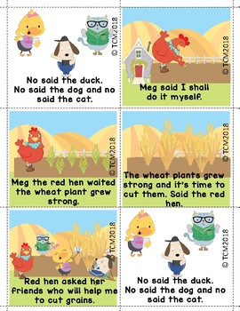 STORY SEQUENCE - THE LITTLE RED HEN