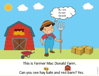 READER BOOK - AT THE FARM