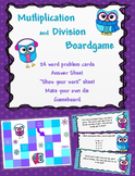 Multiplication and Division Winter Owl Game