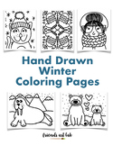 ❄️26 Hand-Drawn Winter Coloring Pages (Perfect for Home/Cl