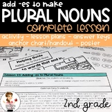 Plural Nouns Adding -es Activity, Lesson Plans, Handout, Poster, and Answer Keys