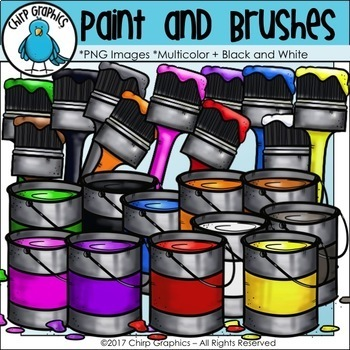 Little Painters Clip Art Bundle - Chirp Graphics
