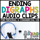 Ending Digraphs Audio Clips - Sounds Files for Digital