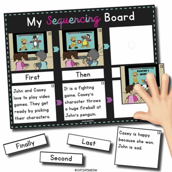 Sequencing Board: Sequencing stories, pictures and sequenc