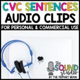 CVC Word Sentences Audio Clips - Sound Files for Digital Resources