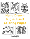 27 Hand-Drawn Bugs & Insects Coloring Pages (Perfect for H