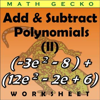 #271 - Adding and Subtracting Polynomials (II) Maze