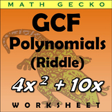 #273 - Greatest Common Factor (GCF) of Polynomials - Riddle