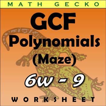 #274 - Greatest Common Factor (GCF) of Polynomials - Maze