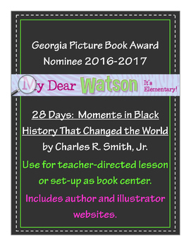 """28 Days:  Moments in Black History That Changed the World"" Lap Book"