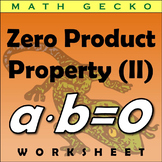 #286 - Zero Product Property Riddle (II)