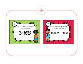 ***2ND GRADE MATH REVIEW 30 SCOOT CARDS AND RECORDING SHEET***