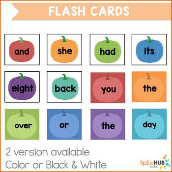 Fall Common Sight Words BUNDLE