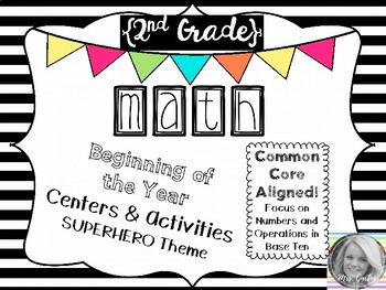 {2nd Grade} Beginning of the Year Math Centers & Activities
