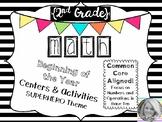 {2nd Grade} Beginning of the Year Math Centers & Activities
