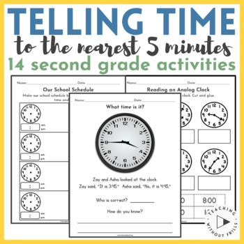 {2nd Grade Common Core: 2.MD.C.7} Telling Time to Nearest 5 Minutes Packet