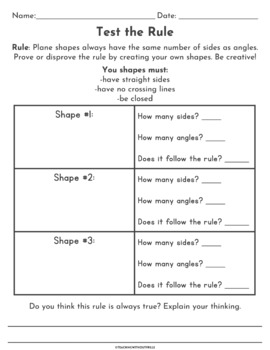 |2nd Grade Common Core| Shapes Investigations, Worksheets & Activities: 2.G.A.1