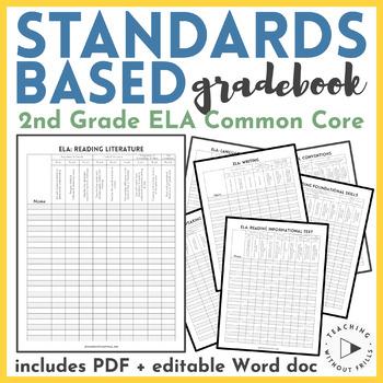 |2nd Grade ELA| English Language Arts Common Core Checklist or Gradebook