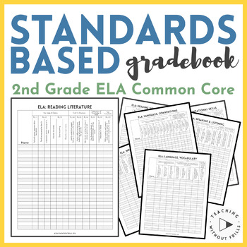  2nd Grade ELA  English Language Arts Common Core Checklist or Gradebook