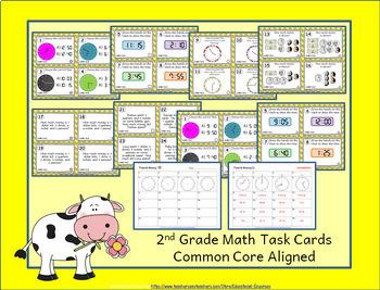 2nd Grade Math Curriculum Bundle: 2nd Grade Math Review, Yearlong Math Bundle