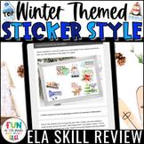 $3/48 HOURS Winter ELA Skill Review Digital Activity Stick