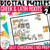 Greek & Latin Roots Digital Puzzles LEVEL 2 | Distance Learning