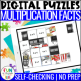 Multiplication Facts Digital Puzzles | Math Fact Practice